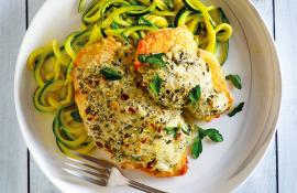 Instant Pot Keto Pesto Chicken with Zucchini Noodles