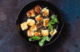 Skillet Fried Ricotta Dumplings