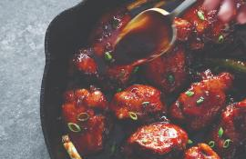 Sticky Chicken Thighs with Ginger and Garlic from SKILLET LOVE
