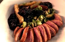 Duck breast with Cabernet jam