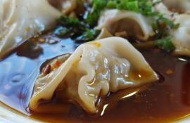 Shui Jiao: Spicy Sichuan-style Water-Boiled Dumplings in Red Oil