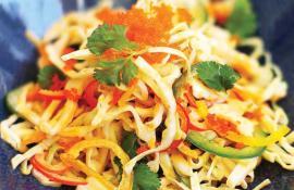 Sriracha cabbage salad