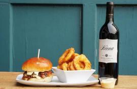 Uneeda burger and kiona wine