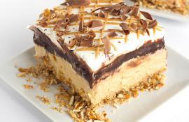 Decadent Layered Chocolate Peanut Butter Cheesecake
