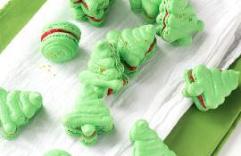 Christmas tree french macarons