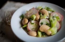 White Bean, Celery, and Radish Salad
