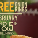 Free Onion Rings at Burger King This Weekend