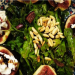 Warm fig and goat cheese salad